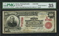 National Bank Notes:Pennsylvania, Derry, PA - $10 1902 Red Seal Fr. 613 The First NB Ch. # (E)6756. ...