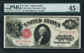 Fr. 39 $1 1917 Legal Tender Mule PMG Choice Extremely Fine 45 EPQ
