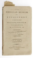 Books:Pamphlets & Tracts, The American Museum, or Repository of Ancient and Modern FugitivePieces, Vol.II, Numb.III, (Philadelphia: Matthew Carey, 1...
