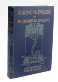 Books:First Editions, Rudyard Kipling: A Song of the English (London: Hodder &Stoughton, nd [c.1909]), trade edition, 123 pages, illustration...