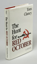 Books:First Editions, Tom Clancy: The Hunt For Red October (Annapolis. Maryland:Naval Institute Press, 1984), first edition. Fine in a fine d...