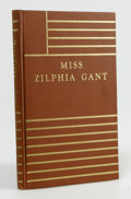 Books:First Editions, William Faulkner: Miss Zilphia Gant (Dallas: Book Club ofTexas, 1932), first edition. Fine. Number 38 of 300. Included ...