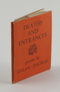 Books:First Editions, Deaths And Entrances. By Dylan Thomas, (London: J.M. Dent& Sons Ltd, 1946) first edition, 66 pages, original orang...
