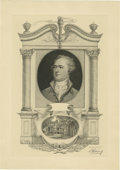 """Antiques:Posters & Prints, Society of Iconophiles Series IV: Portrait of Alexander Hamilton and a view of """"The Grange"""". Two versions of this title are ... (Total: 2 items)"""