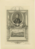 Antiques:Posters & Prints, Society of Iconophiles Series IV: Portrait of General Lafayette anda view of his Landing in New York in 1824. Two versions ... (Total:2 items)