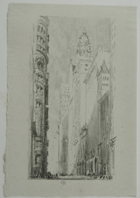 "Society of Iconophiles Series VIII: Twelve Lithographs by Joseph Pennell (1905) of the ""Sky-Scrapers"" of New Y..."