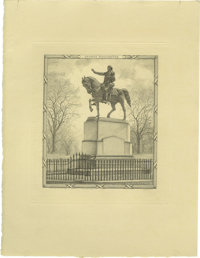 Society of Iconophiles Series XIII: Three Engravings of Statues by Francis S. King (1908-1909) consisting of one limited...