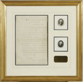 Autographs:U.S. Presidents, Certification of the first presidential election and the oaths of office by Washington and Adams, 1789 . Samuel A. Otis ...