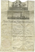 "Autographs:U.S. Presidents, Thomas Jefferson and James Madison Ship's Papers Document Signed""Th:Jefferson"" as President and ""James Madison"" as..."