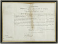 """Autographs:U.S. Presidents, James Madison Document Signed """"James Madison."""" One page, 11"""" x 8"""", Washington D.C., March 1, 1813. This officer's commis..."""