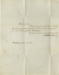 "Autographs:U.S. Presidents, Dolley Madison Autograph Letter Signed and Free Franked EnvelopeSigned ""Dolley P. Madison."" One page document, measurin...(Total: 2 items)"