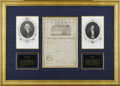 "Autographs:U.S. Presidents, James Madison and James Monroe Signed Ship's Papers DocumentSigned. One page, 10.5"" x 15.5"", partly printed, on vellum, Bal..."