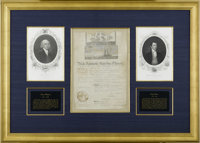 "James Madison and James Monroe Signed Ship's Papers Document Signed. One page, 10.5"" x 15.5"", partly printed..."