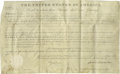 "Autographs:U.S. Presidents, President James Monroe Document Signed, "" James Monroe"".Partially printed vellum land grant, one page, 15.5"" x 9.5"", W..."