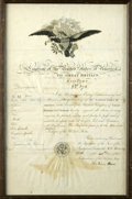 """Autographs:U.S. Presidents, John Quincy Adams Document Signed, """"LEGATION OF THE UNITEDSTATES OF AMERICA TO GREAT BRITAIN PASSPORT NO. 278"""", onepag..."""
