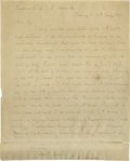"Autographs:U.S. Presidents, John Quincy Adams Autograph Letter Signed ""J.Q. Adams."" Onepage, 8"" x 10"", Washington D.C., May 6, 1847. The letter was..."