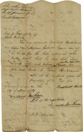 Autographs:U.S. Presidents, Andrew Jackson: A very early document signed twice as a 34 year oldJustice of the Tennessee Superior Court Manuscript docu...