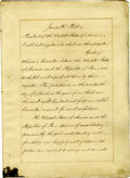 Autographs:U.S. Presidents, President James Knox Polk and Secretary of State James Buchanan Sign a Document Amending the Convention of 1841 Between the U...