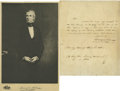"Autographs:U.S. Presidents, James Polk Autograph Letter Signed ""James K. Polk."" One page, 8"" x 10"", April 3, 1848. Written to James Buchanan when th... (Total: 2 items)"