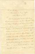 Autographs:U.S. Presidents, Secretary of State James Buchanan Sends the Credentials of JohnRandolph Clay to be United States Minister of Peru in 1847 ...