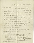 "Autographs:U.S. Presidents, James Buchanan Autograph Letter Signed, ""James Buchanan"".One page, 6.5"" x 8.0"", Lancaster County, Pennsylvania, July 1,..."