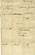 Autographs:U.S. Presidents, Excessively Rare Legal Document Signed by Abraham Lincoln's Father,Thomas Lincoln (Multiple Times), His Stepbrother, John D....