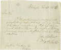 "Autographs:Statesmen, The Man Who Challenged Abraham Lincoln to a Duel, James ShieldsAutograph Letter Signed ""Jas Shields"". One page, 7.75"" x...(Total: 2 items)"