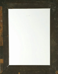 """Abraham Lincoln Mirror Frame , 13.0"""" x 16.5. This simple pine frame with mahogany veneer was reputedly repaired by..."""