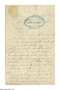 Autographs:U.S. Presidents, Andrew Johnson Autograph Endorsement Signed As President on theverso of an 1867-dated three page letter from a young Boston...