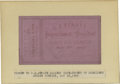 """Political:3D & Other Display (pre-1896), Ticket to the Impeachment of President Andrew Johnson , 5.0"""" x3.0"""", Washington, D.C., May 18, 1868. Signed in print by Geo..."""