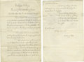 """Autographs:U.S. Presidents, Rutherford B. Hayes Presidential Pardon Document Signed """"R BHayes"""". Two pages, 10.25"""" x 16"""", manuscript, Washington, Februa..."""