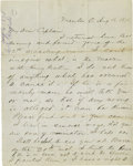 "Autographs:U.S. Presidents, James A. Garfield Autograph Letter Signed, ""J.A. Garfield"".2 pages, 7.75"" x 9.75"", Mentor, Ohio, August 16, 1878 to Ca..."