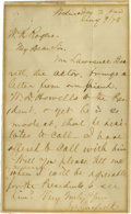 "Autographs:U.S. Presidents, James A. Garfield Autograph Letter Signed, "" J.A. Garfield"".One page, 5.0"" x 8.0"", July 9, 1878 to a W.K. Rogers. While..."