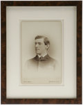 Photography:Cabinet Photos, One of the Earliest Known Photographs of Woodrow Wilson. Thisremarkable mid-1870s cabinet card by Pach Bros., New York, sho...