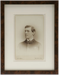 One of the Earliest Known Photographs of Woodrow Wilson. This remarkable mid-1870s cabinet card by Pach Bros., New York...