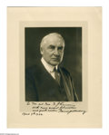 """Autographs:U.S. Presidents, Warren G. Harding Signed Photograph. Harding inscribes thisfantastic 11"""" x 14"""" portrait photograph with the following,""""T..."""
