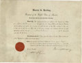 Autographs:U.S. Presidents, President Warren G. Harding signed document It is somewhat amazingto think that it would take a formal document, executed b...