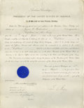 Autographs:U.S. Presidents, President Calvin Coolidge signed document Executed on August 13,1924 and signed by Calvin Coolidge in a clear and clean sig...