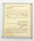 Autographs:U.S. Presidents, Franklin Roosevelts Signed Official Declaration of Candidacy Formfor his 1936 Presidential Re-election Run. Notarized and d...
