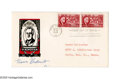 "Autographs:U.S. Presidents, Eleanor Roosevelt First Day Covers Signed for three of the 1¢ Franklin D. Roosevelt ""Hyde Park"" stamps (Scott #930) and a pa... (Total: 2 items)"