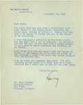 Autographs:U.S. Presidents, The ultimate Harry Truman Archive containing more than 30 letters.Also included is 17 pages of eyewitness accounts of a close...(Total: 37 items)