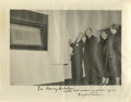 """Autographs:U.S. Presidents, Dwight D. Eisenhower Signed Photograph. Here we feature a 14"""" x 11""""black and white photograph of Dwight and Mamie Eisenhowe..."""
