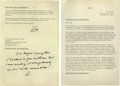 Autographs:U.S. Presidents, Dwight and Mamie Eisenhower: An Important Archive of Letters to Republican National Committee Chairman Ray Bliss Archive of...