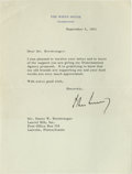 "Autographs:U.S. Presidents, JFK Nuclear Disarmament Archive 1961-1962. John F. Kennedy TypedLetter Signed ""John Kennedy"" as President, one pag...(Total: 8 items)"