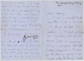 Autographs:U.S. Presidents, Jacqueline Kennedy: An Amazing Archive of Previously UnseenAutograph Letters Signed, Written Between the Ages of 15 and 17 ...(Total: 10 items)