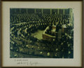 """Autographs:U.S. Presidents, Fine Large Lyndon B. Johnson Signed color photo of him delivering his State of the Union Address. Large 13"""" x 10.25"""" image, ..."""