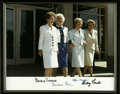 """Autographs:Celebrities, First Ladies Signed Photo with Pat Nixon, Betty Ford, Nancy Reagan,and Barbara Bush. A flattering 10"""" x 8"""" glossy color ima..."""