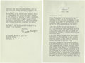 "Autographs:U.S. Presidents, Ronald Reagan Typed Letter Signed, "" Ronald Reagan"". 2pages, 7.0"" x 10.5"", Washington, D.C., July 5, 1985, to William ..."