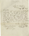 "Autographs:Military Figures, Forbes N. Britton Autograph Letter Signed, ""F Britton"". Onepage, 8.0"" x 10.0"", Comargo, Mexico May 4, 1847, to Captain..."