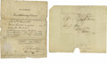 "Autographs:Statesmen, John C. Calhoun Signed Document and Free Franked Envelope. Document1-Signed: ""J.C. Calhoun Secretary of War."" One page,...(Total: 3 )"